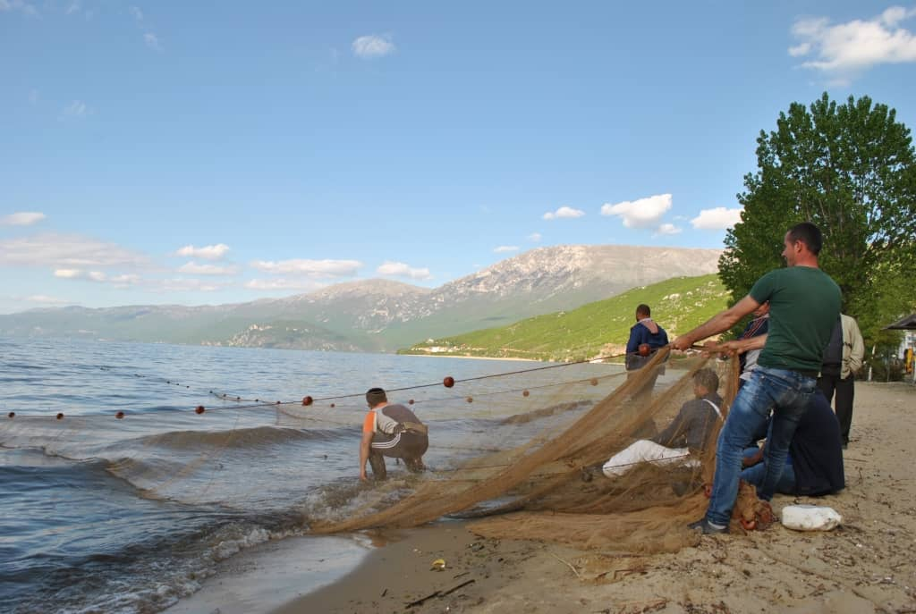 Fishermen | Photo: Protected Area of Pogradec – Lake Ohrid