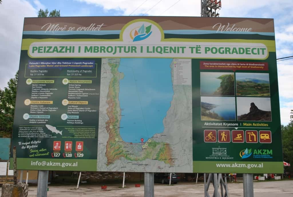 Map of the Protected Landscape of Pogradec – Lake Ohrid | Photo: Protected Area of Pogradec – Lake Ohrid